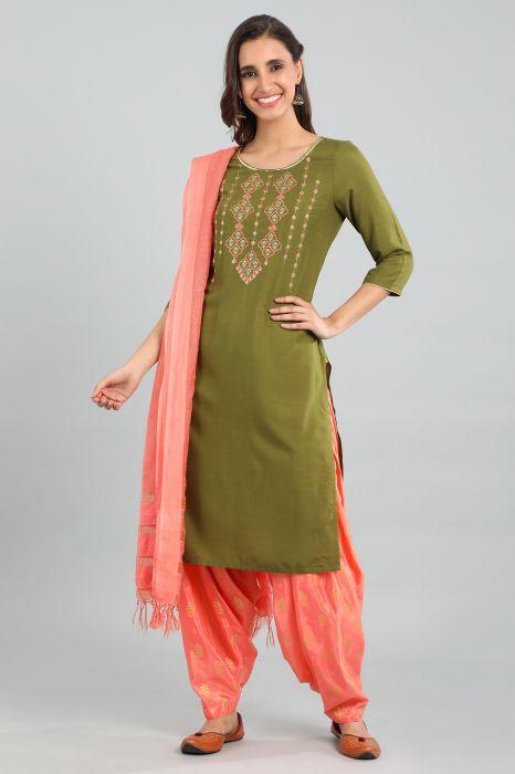 green-round-neck-printed-kurta-shopforaurelia